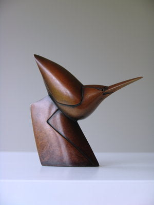Anthony Theakston 'Little Walking Heron' bronze Ed of 12 13x13x4cms