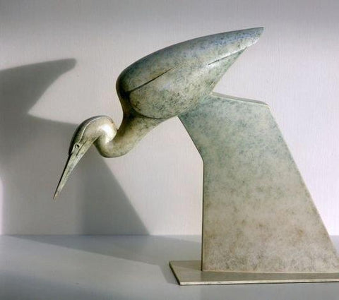 Anthony Theakston 'Stalking Heron' bronze Ed of 12 28x36x10cms