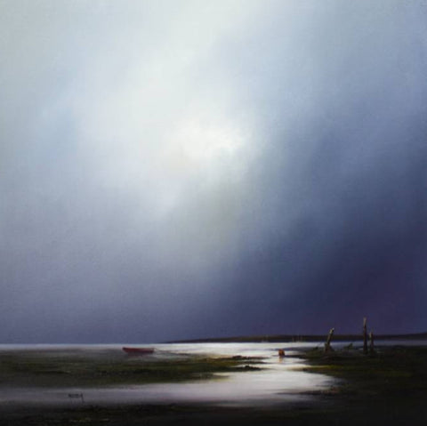 Barry Hilton 'Evening Stillness' 28x28ins oil on canvas