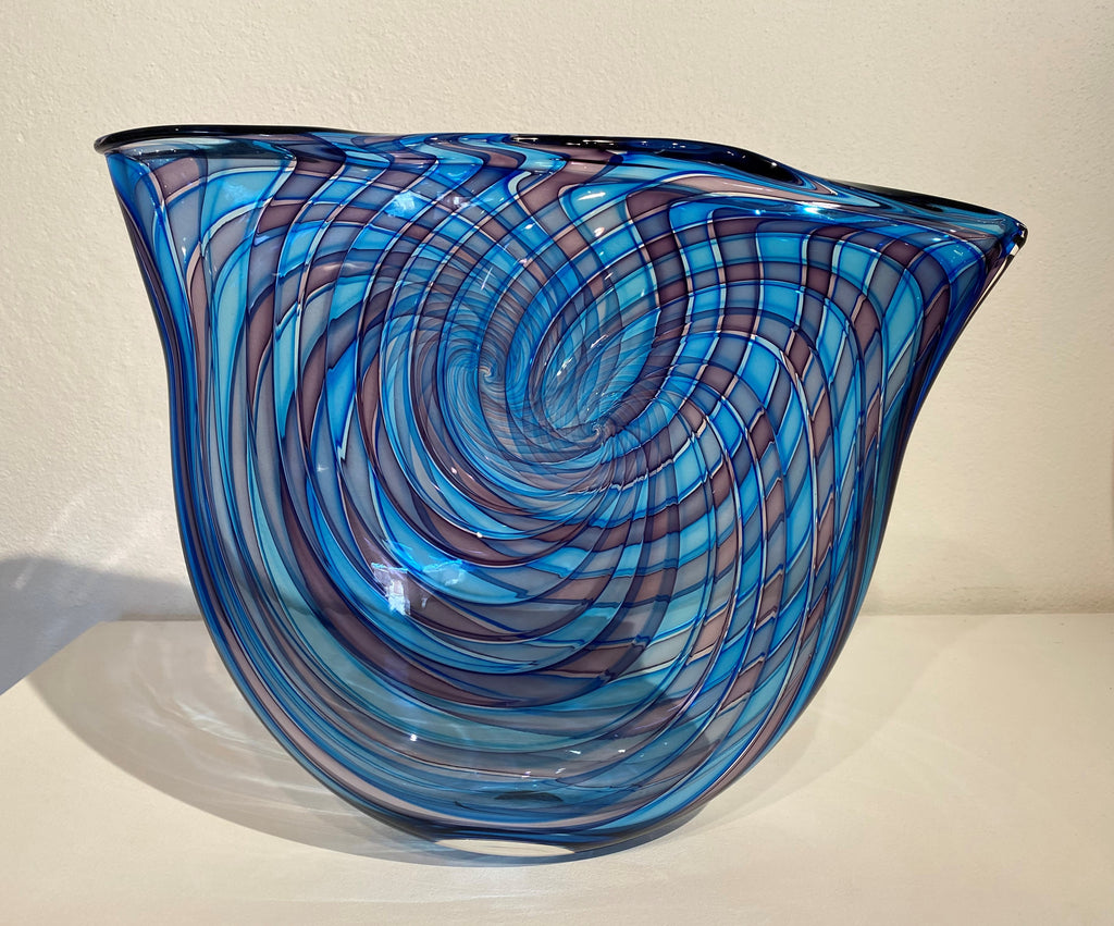 Bob Crooks 'Pi bowl' glass H29cm x W37cm x D8cm