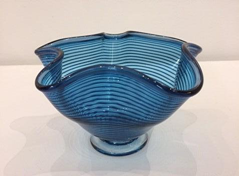 Bob Crooks 'Small Venetian Bowl' glass H12cm W19.5cm