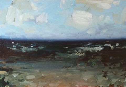 Caroline Hunter 'Beautiful Day' acrylic on board 48x71cms