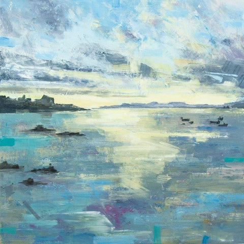 Clive Patterson 'Distant Shores' acrylic on board 40x40cms