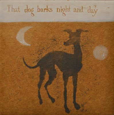 Mychael Barratt 'Cole Porter's Dog' Limited Edition Etching 22x22cm