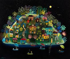 Daphne Stephenson 'Cool of the Night, Jamaica' unframed limited edition print 80x155cms
