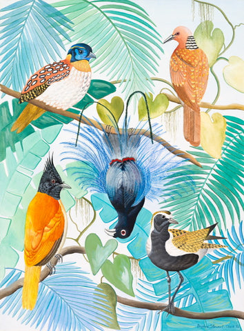 Daphne Stephenson 'Birds of Paradise' limited edition print 76x56cm