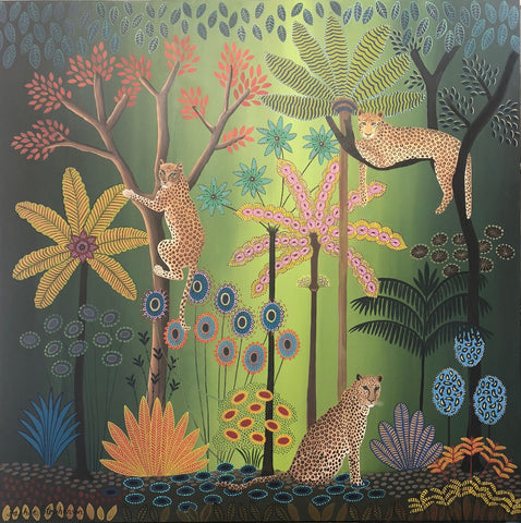 Daphne Stephenson 'Love, Peace & Harmony' 110x110cm framed limited edition print