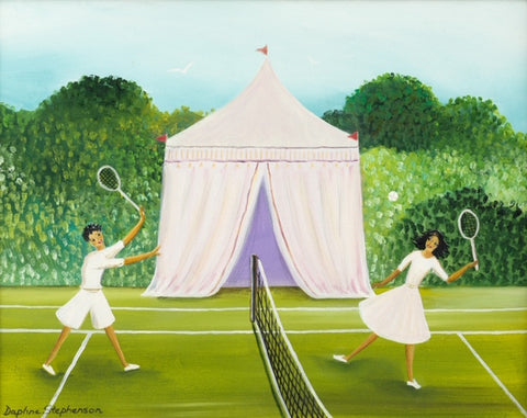 Daphne Stephenson 'Tennis Players' limited edition print 44x36cm