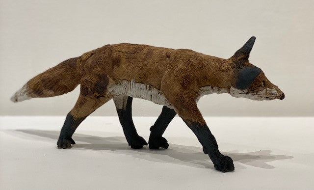 Elaine Peto 'Small Running Fox' ceramic 12x32cm