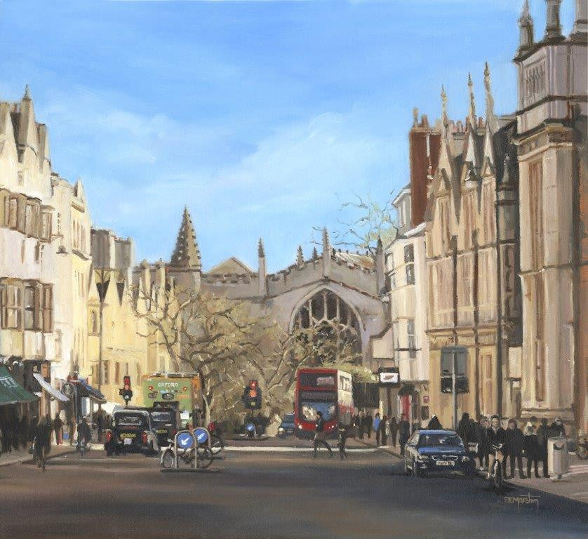 Elaine Marston 'A View to Magdalen' 40x48cm oil on canvas