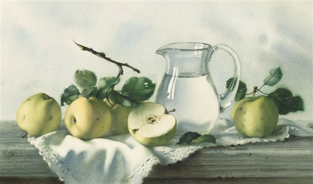 Elena Bazanova 'Still Life with Apples' Ltd Edition Giclée Print 32x55cm