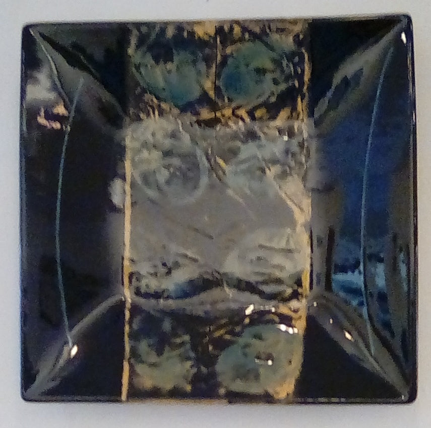 Françoise Dufayard 'Square wall plate' ceramic