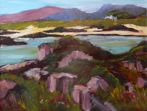 Gail Wendorf 'Summer's Day by Morar' oil on board  23x31cms