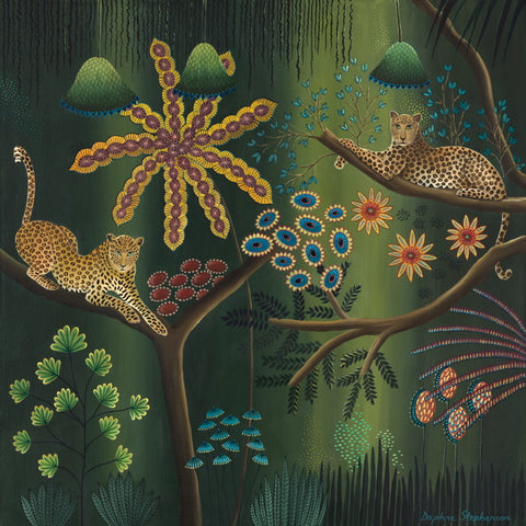 Daphne Stephenson ' Harmony in the Jungle' unframed limited edition print 90x90cms