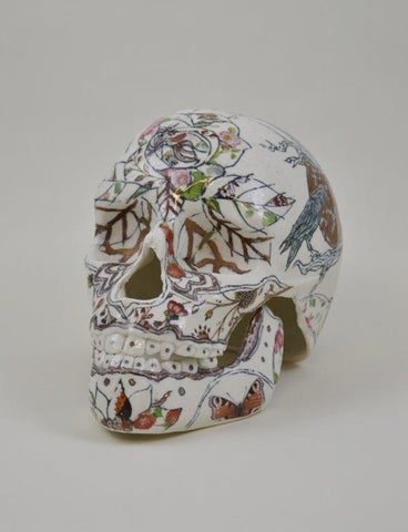 Helen Nottage 'Dead of the Dead' Skull ceramic 15.5x12x22 cms
