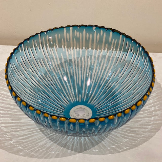 Bob Crooks 'Voyage Bowl' glass 30cms D