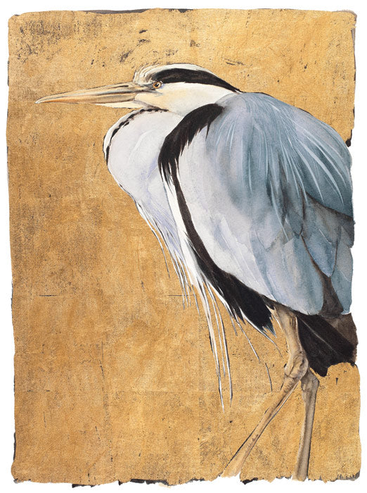 Jackie Morris 'Heron' Limited edition print illustration 28Wx37Hcms from The Lost Words