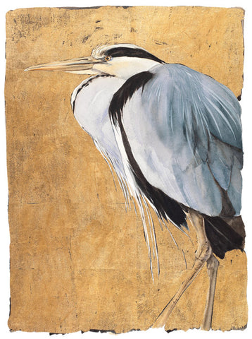 Jackie Morris 'Heron' Limited edition print illustration 28Wx37Hcms