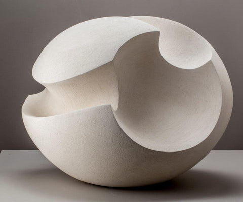 James Oughtibridge 'White Blade Form' ceramic 36Hx45Wx30D