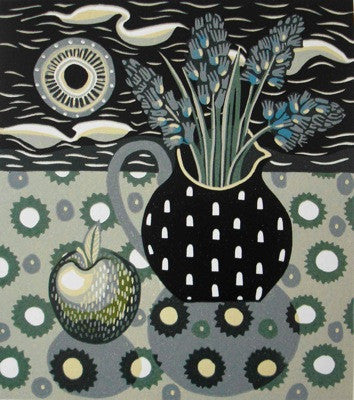 Jane Walker 'Apple and Jug' Linocut Ed 16 28.5x25.5cm (11x10ins)