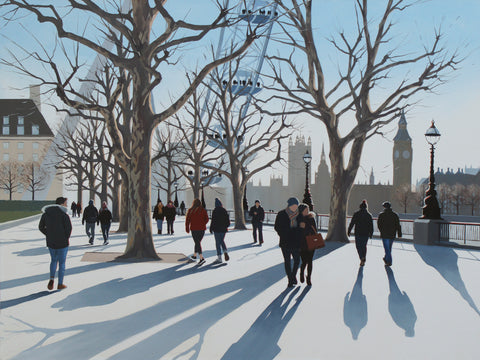Jo Quigley 'Winter Evening Shadows' 76x101cm acrylic on canvas