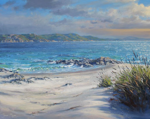 Julian Mason 'Sound of Iona' oil on canvas 61 x 76cm