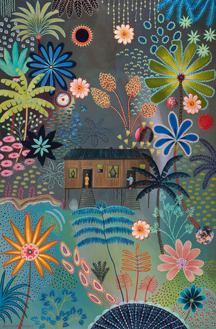 Daphne Stephenson 'Jungle Flowers' unframed limited edition print 120x90cms