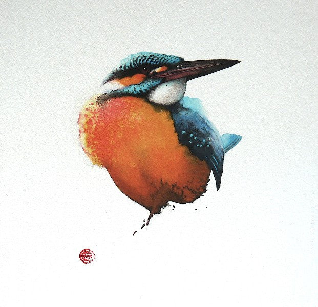 Karl Martens 'Kingfisher' Lithograph Unframed