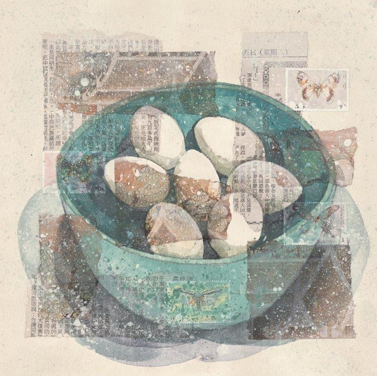 Kirsten Jones 'Eggs in China' 24x24cm limited edition print