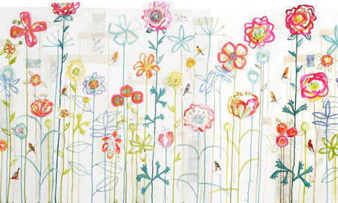 Kirsten Jones 'French Flower Garden' 106x41cm limited edition print