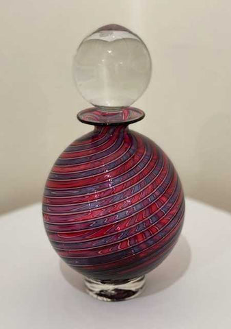 Bob Crooks  'Large pasteralli scent bottle' glass 22x13x13cm