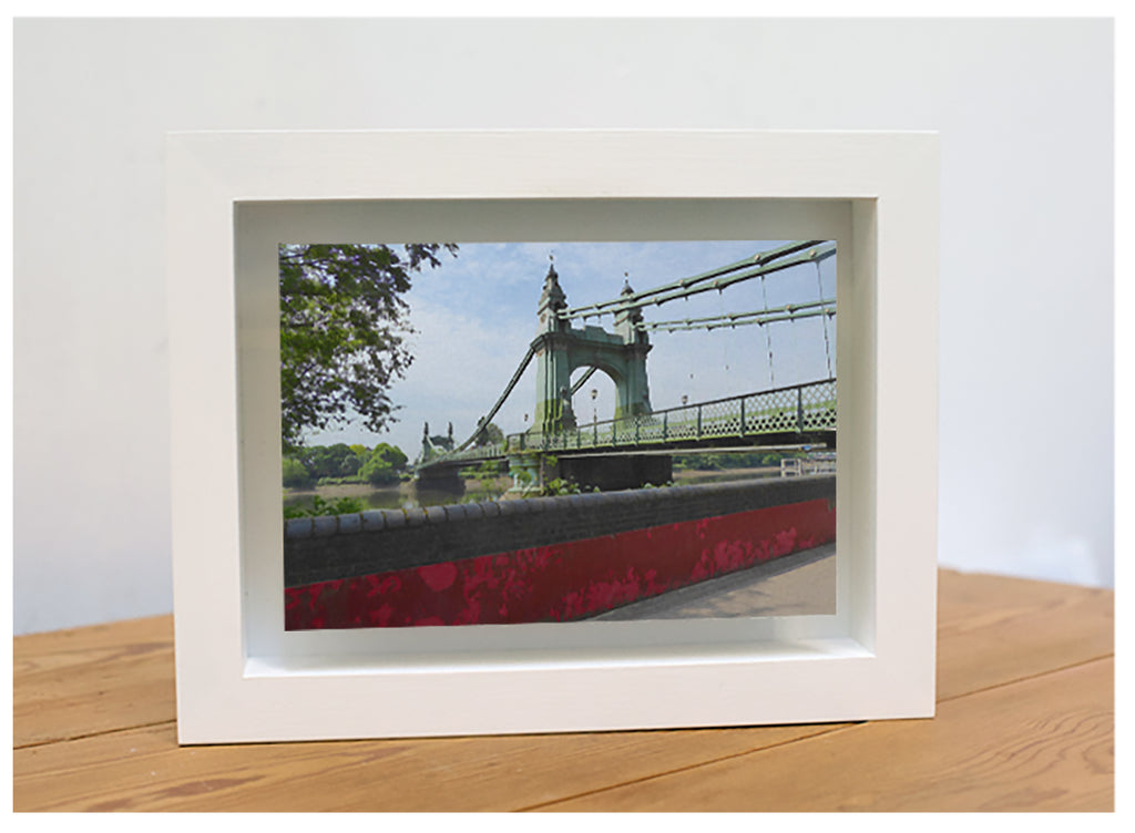 Hammersmith Bridge photograph by Michael Wallner at Iona House Gallery