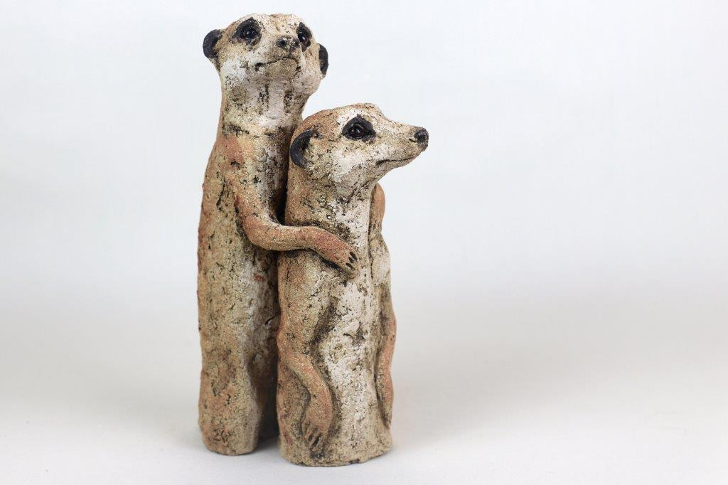 Julie Wilson 'Two Meerkats' ceramic
