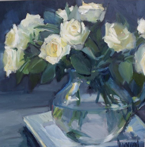 Marion Drummond 'Abigail's Roses - Day 2' oil on board 40x40cm