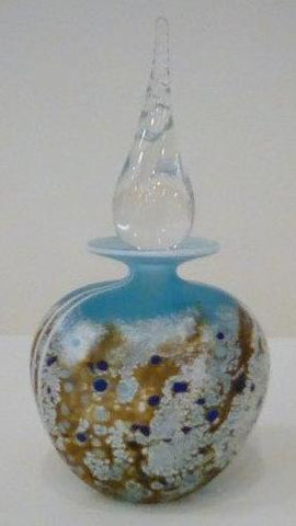 Martin Andrews 'Beach Perfume Bottle' glass 17x9cms