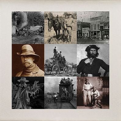 Matthew Andrews 'Cowboys I' Limited edition print 12 of 50 57x57cms