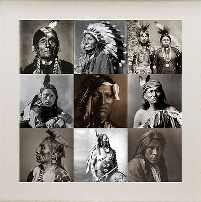 Matthew Andrews 'Indians II' Limited edition print 12 of 50 57x57cms