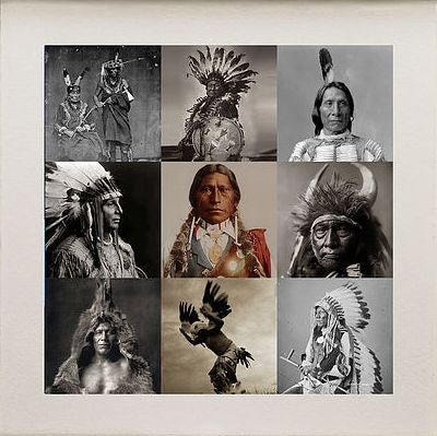 Matthew Andrews 'Indians I' Limited edition print 12 of 50 57x57cms
