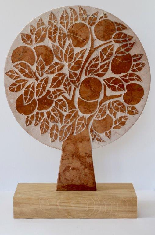 Michael Disley original sculpture marble tree