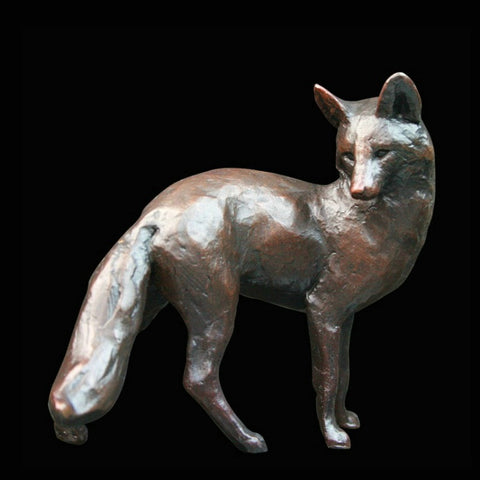 Michael Simpson 'Fox Standing' Bronze Limited Edition of 200 H5cm