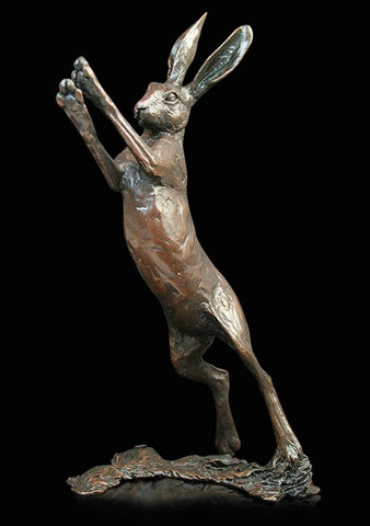 Michael Simpson 'Medium Hare Boxing' Bronze Limited Edition of 150 H18.5cm