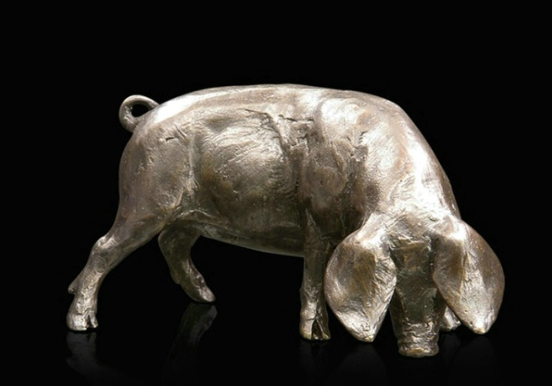 Michael Simpson bronze limited edition sculpture pig
