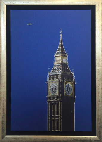 Michael Wallner 'Big Ben' brushed aluminium print Ltd edition of 30 15x23x5cms