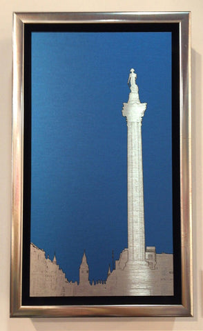 Michael Wallner 'Nelson's Column' brushed aluminium print Ltd edition of 30 27x15x2.9