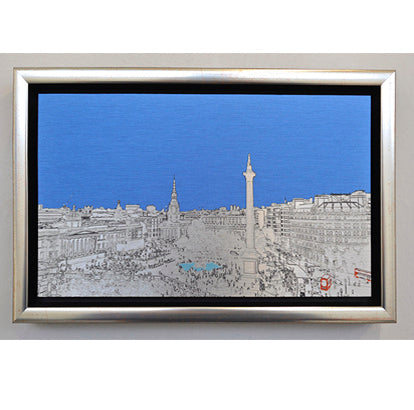 Michael Wallner 'Trafalgar Square' brushed aluminium print Ltd edition of 30  26x15x5cms