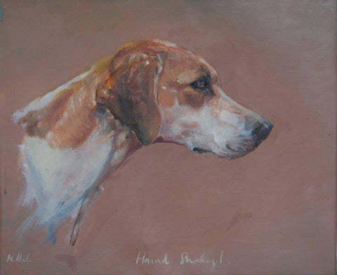 Michelle McCullagh 'Hound Study I' oil on canvas 25.5x30.5cm