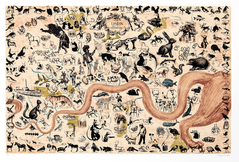Mychael Barratt 'London Bestiary' silkscreen 76x110cms edition of 100