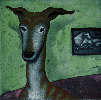 Mychael Barratt 'Modigliani's Dog' Limited Edition Etching