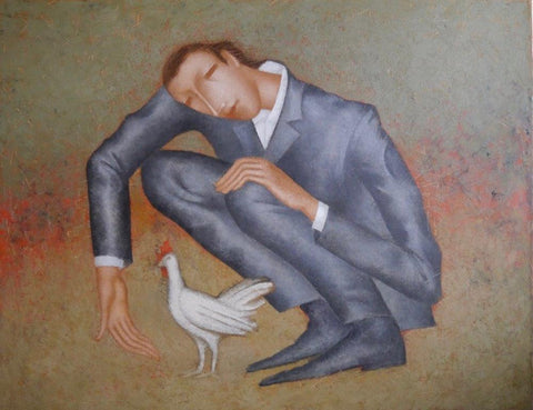 Nikolay Reznichenko 'Little Bird' oil on canvas 70x90cm