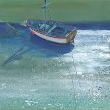 Paul Evans 'White Boat Aldeburgh' limited edition print 13 of 95 (unframed)